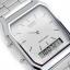 นาฬิกา CASIO ดิจิตอล สีเงินสายสแตนเลส 2 ระบบ รุ่น AQ-230A-7D STANDARD ANALOG DIGITAL RETRO CLASSIC ของแท้ รับประกันศูนย์ 1 ปี thumbnail 2