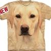 Big Face Yellow Labrador Dog Portrait T-Shirts
