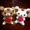 ตุ๊กตา หมีริลัคคุมะคู่โคะริลัคคุมะ ขนาด 7นิ้ว ถือสตอร์เบอร์รี่