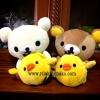 ตุ๊กตา หมีคู่ ริลัคคุมะ และ โคะริลัคคุมะ อุ้มลูกเจี๊ยบ มีช่องวางโทรศัพท์หรือใส่ของได้ ขนาดสูง9นิ้ว