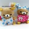 ตุ๊กตาเซ็ตคู่ หมีริลัคคุมะ Rilakkuma ขนาด 7นิ้ว น่ารักมากๆๆ