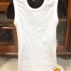 เสื้อ คอกลม แขนกุด เจเพรส J.Press สีขาว
