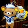 ตุ๊กตา พวงกุญแจ ริลัคคุมะ และ โทริ (ลูกเจี๊ยบ) เซ็ตกะลาสี