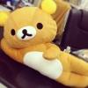 ตุ๊กตา Rilakkuma ริลัคคุมะ หมีขี้เกียจ ท่านอนตะแคง มี2ขนาด: ขนาด 14นิ้ว และ ขนาด 20นิ้ว