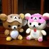 ตุ๊กตา เซ็ตคู่ ผ้าปิดตา ลาย Rilakkuma (หมีน้ำตาล) และ Korilakkuma (หมีสีครีม) ขายเป็นคู่ ขนาด7นิ้ว