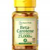 Puritan's Pride Vitamin A (Beta-Carotene) 25000 IU / 100 Softgels