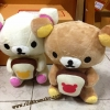 ตุ๊กตาหมี เซ็ตคู่ ริลัคคุมะ และ โคะริลัคคุมะ 8นิ้ว ถือขนมปัง