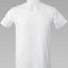 เสื้อยืด คอกว้าง ตราห่านคู่ Double Goose สีขาว