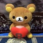 ตุ๊กตาหมี ริลัคคุมะ Rilakkuma กอดหัวใจ ขนาด 8 นิ้ว