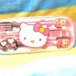 กล่องช้อนส้อมพกพา ลาย คิตตี้ Hello Kitty
