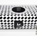 กล่องทิชชู่ Tissue Box D.A.D Crown Black&White หนังแก้วสีดำสลับหนังด้านสีขาว