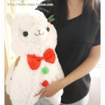 ตุ๊กตา อัลปาก้า Alpaca สีขาว ไซส์ใหญ่ 18นิ้ว
