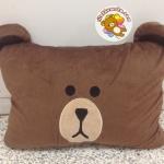 หมอนผ้าห่ม ลาย ตุ๊กตาไลน์ หมี บราวน์ 3ฟุต