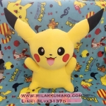 ตุ๊กตาผ้าห่มปิกาจู จากโปเกมอน Pokemon
