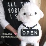 ตุ๊กตา อัลปาก้า Alpaca สีขาว OPEN ไซส์ใหญ่ 18นิ้ว
