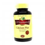 Vitamate Calcium Plus ไวตาเมท แคลเซียม พลัส บรรจุ 60 เม็ด เสริมสร้างกระดูก ช่วยลดความดันโลหิต และช่วยเสริมแคลเซียมในผู้ป่วยโรคกระดูก