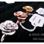 แหวนเพชรดอกไม้ 3 สี Gold / White gold / Pink gold