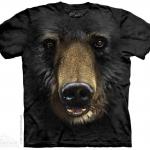 เสื้อยืด3Dสุดแนว(BLACK BEAR FACE T-SHIRT)