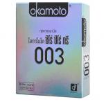 Okamoto 003 (ซีโร่ ซีโร่ ทรี) ถุงยางอนามัย OKAMOTO 003 (แบบบางมาก) 52mm บางที่สุดในโลก บางเพียง 0.03 แถมยังเหนียวและนุ่ม เหมาะกับคนที่ไม่ชอบความอึดอัด ถุงยางอนามัยทำจากยางธรรมชาติที่ บางที่สุดในโลก
