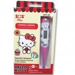 SOS Plus Clinical Digital Thermometer Hello Kitty เทอร์โมมิเตอร์ ดิจิตอล ลายคิตตี้ลิขสิทธิ์ รุ่นสีชมพู