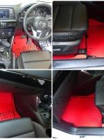 พรมปูพื้นรถยนต์ MAZDA CX-5 สีแดง เต็มคัน 16 ชิ้น