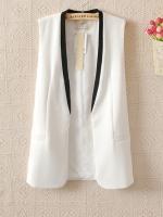 (พร้อมส่ง) เสื้อสูทแขนกุด สีขาว มีไซด์ L (งานเหมือนแบบ)