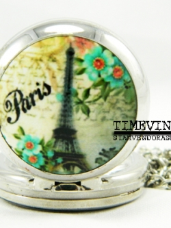 **พร้อมส่ง**สร้อยคอนาฬิกา Eiffel Tower-E