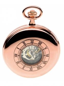 ***พรีออร์เดอร์***นาฬิกาพกกลไกไขลานBrandฌองปิแอร์ สีโรส เปิด 2 ด้าน