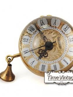 **พร้อมส่ง**นาฬิกาพก ทรงกลม ระบบไขลานกลไก พื้นลูกไม้