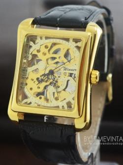 นาฬิกาข้อมือระบบไขลาน คอลเลคชั่น Square Art # 3 (พร้อมส่ง)