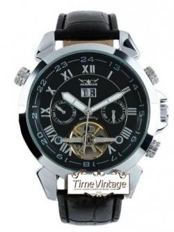 ***พร้อมส่ง**นาฬิกาข้อมือกลไก ระบบ Tourbillon หน้าปัดสีดำ ฟั่งชั่นบอกวันที่