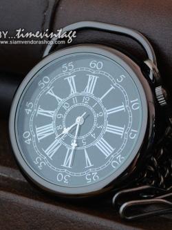 นาฬิกาพก Antique Bronze Constellation สีดำ ไซด์ L (พร้อมส่ง)