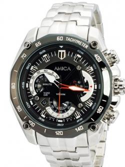 นาฬิกาข้อมือแบบทหาร Military Sport หน้าปัดสีดำ พร้อมระบบวันที่ (สั่งทำ)