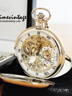 นาฬิกาพกแบร์นดดังจากยุโรปกลไกไขลานBrandฌองปิแอร์ สีเงิน ***พรีออร์เดอร์***