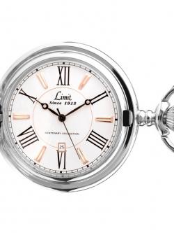 ***พรีออร์เดอร์***นาฬิกาพกควอทซ์สีเงินฝาหน้า-หลังเรียบแบรนด์LIMIT