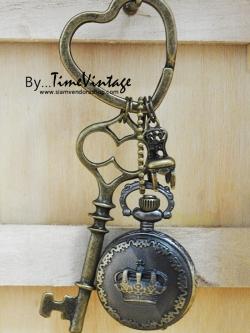 นาฬิกาพวงกุญแจลาย Royal Collection สไตล์วินเทจ