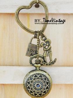 นาฬิกาพวงกุญแจดีไซต์ Forever Love Couple