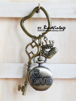 สุดหวานของขวัญให้คนรักพวงกุญแจนาฬิกา FOREVER LOVE