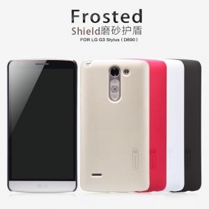 เคส LG G3 Stylus - Nillkin Super Shield Shell (ของแท้) + ฟิลม์กันรอย มีลายด้านหลัง กันลื่น ทำจากพลาสติกคุณภาพดีเคลือบ UV จับกระชับมือ เนื้อละเอียด