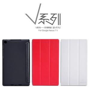 ซองหนัง Google Nexus 7 II - Nillkin Leather Case ทำจากหนังแท้หนัง เนื้อนุ่มมัน ตัวเคสพร้อมฝาปิดพับตั้งได้