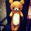 หมอนข้าง ริลัคคุมะ Rilakkuma หมีสีน้ำตาล มีรุ่น: รุ่นผอม 100cm, รุ่นผอม80cm, รุ่นยาวพิเศษ 108cm และ รุ่นลิขสิทธิ์ไทย 76cm thumbnail 2