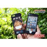 เคส iPhone5s/5 ฝาประกบหน้าหลัง - วันพีช ลูฟี่พื้นดำ