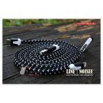 สายชาร์จ 3 หัว เชือกถัก 1 เมตร - สีดำ