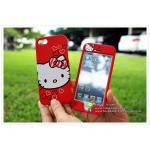 เคส iPhone5s/5 ฝาประกบหน้าหลัง - คิตตี้ (แดง)