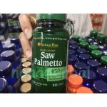 Puritan's Pride Saw Palmetto Standardized Extract 450 mg / 100 Capsules