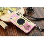 เคส iPhone5/5s - Camera ซิลิโคน สีชมพูอ่อน