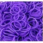 หนังยางถัก สีม่วง 1500 เส้น (Hot Purple Rainbow Loom Bands)