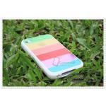 เคส iPhone4/4s - Rainbow ขอบขาว