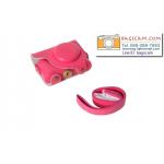 เคสกล้อง Casio ZR3500/ZR2000 สีชมพูเข้ม