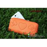 กระเป๋าใส่โทรศัพท์ Heart-wallet - สีส้ม